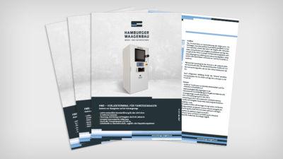 HWB – Verladeterminal für Fahrzeugwaagen - Datenblatt